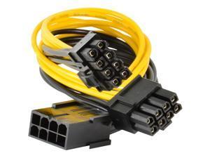 PCI-E 8-pin to 2x 6+2-pin 6-pin/8-pin Power Splitter Cable PCIE PCI Express