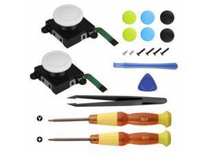 For  Switch Lite Joystick 19in1 Repair Set w/3D Analog Sensor Stick+Tool