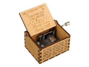 """""""To My Gorgeous Wife"""" Wooden Music Box Engraved Musical Case Toys Kids Gifts New"""