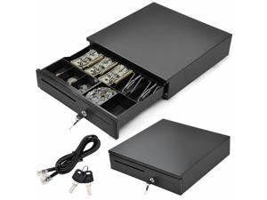 New POS Cash Drawer 4/5Bill 5Coin Tray Compble with Star and Epson Printers