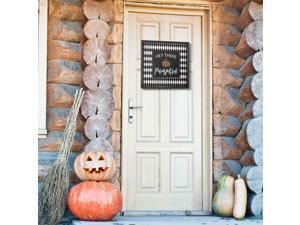 HEY THERE Pumpkin Autumn SIGN Wall Door Hanger Plaque Happy Halloween Decor