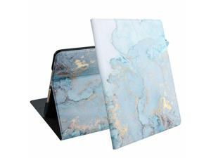 """For  iPad 10.2"""" 2019 Blue Marble Leather Fabric w/stand Case Cover"""