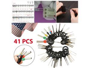 41Pcs Car Terminal Removal Tool Wire Plug Connector Extractor Puller Release Pin