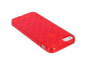 Color Circles TPU Rubber Jelly Skin Case Cover for iPhone SE