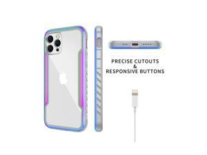 Suitable for Apple 12Pro Max mobile phone case, military product all-inclusive anti-drop transparent new right-angle metal