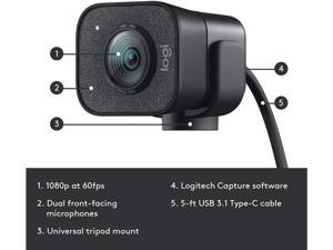 Webcam with Microphone, Logitech StreamCam HD 1080p 60fps USB Webcam with Wide View Angle,Computer Desktop Laptop PC Webcam for Live Streaming, Video Calling and Recording(5 sets)