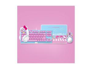 Razer Chroma HelloKitty I SANRIO pink exclusive mouse wired mouse and mouse pad combination, suitable for gaming and office