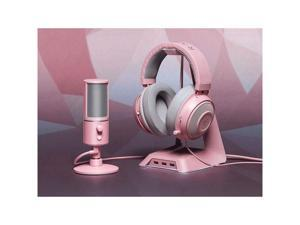 Razer Base Station Chroma Headphone/Headset Stand w/USB Hub - [Quartz Pink]: Chroma RGB Lighting - 3X USB 3.0 Ports - Non-Slip Rubber Base - Designed for Gaming Headsets