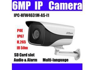 Dahua POE 6MP IP Camera IPC-HDW4631C-A IR 30m H 265 Built-in