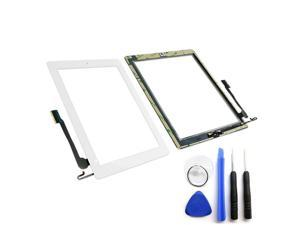 OEM SPEC White Glass Touch Screen Digitizer Home Button For iPad 4 Tool Adhesive