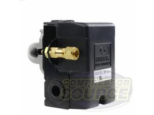 Heavy Duty 4port 25 Amp Air Compressor Pressure Switch Control Valve 105-135 PSI