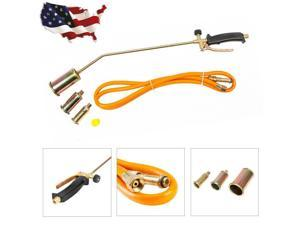 """Propane Torch w/3 Nozzles + 79"""" Hose  Lawn Landscape Weed Burner Ice Snow Melter"""