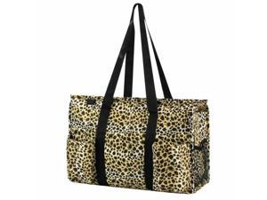 Women Lightweight All Purpose Utility Tote Carry Travel Bag Leopard Print