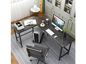 L-Shaped Desk Corner Computer Desk Workston Home Office Desk CPU Stand