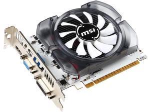 MSI GeForce GT 730 DirectX 12 N730-2GD3V3 2GB 128-Bit DDR3 PCI Express 2.0 x16 HDCP Ready ATX Video Card
