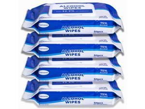 Advanced 75% Alcohol Sanitizer Wipes, 4 x of 50 200, Hand Sanitizer