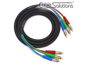 Homelife V3-3C Jacketed Component Video Cable 0.5m