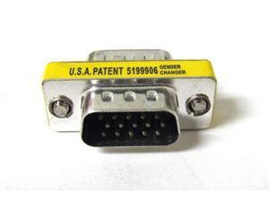 15 Pin VGA SVGA HD15 Gender Changer Coupler Adapter Converter Male to Male