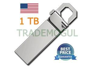 1TB 1T USB 2.0 Memory Silver Hook Flash Drive! USA SELLER!