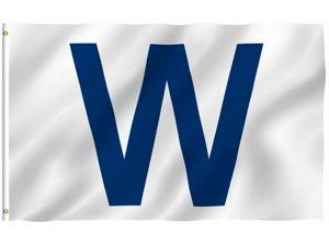"CHICAGO CUBS Win ""W"" flag White and Blue Fly The W Wrigley 3x5"