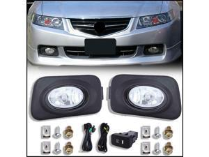 For 2004-2005 Acura TSX Clear Bumper Driving Fog Lights Bulbs Switch