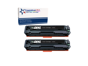 TONERHUBUSA Compatible Toner Cartridge Replacement For HP CF400X  (2-Pack/Black)