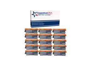 TONERHUBUSA Compatible TN450 TN420 Black Toner Cartridge High Yield Use for HL-2240d HL-2270dw HL-2280dw MFC-7360n MFC-7860dw IntelliFax 2840 2940 Printer 15 Pack