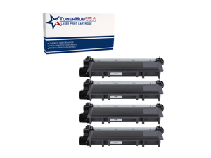 TONERHUBUSA Compatible Toner Cartridge Replacement for Brother TN660 (4-Pack)