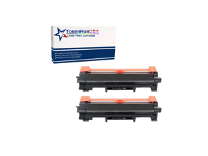 TONERHUBUSA Compatible Toner Cartridge Replacement for Brother TN760 with chip (2-Pack)