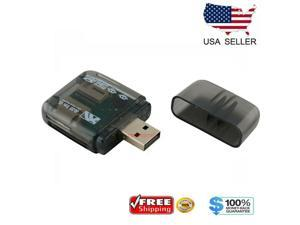USB 2.0 Flash Memory Card Reader All-in-One SD/SDHC Micro-SD/TF MS-Duo M2 Black