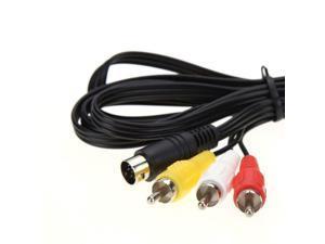Sega Genesis 2 3 32x CDX Nomad 6ft RCA Audio Video AV TV Composite Cable Cord
