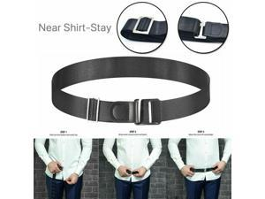 Men Shirt Stays Shirt Holder Belt Adjustable Elastic Holder Keep Shirt Tucked in