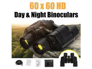 60X60 Zoom Day Night Vision Outdoor Travel HD Binoculars Hunting Telescope+Case