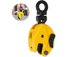 0.8T Industrial Vertical Plate Lifting Clamp Steel w/ Lock Heavy Duty Durable