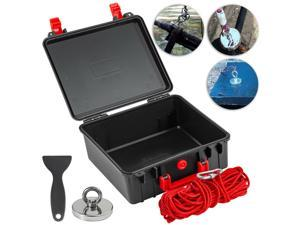 1200 LBS Pulling Force MaxMagnets Fishing Magnet with Eyebolt+ Rope+ Box+ Shovel