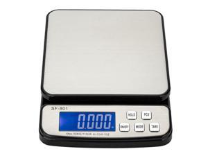 110 LB x 0.1oz All-In-One Digital Postal Shipping Scale 50kg x1g with AC Adapter