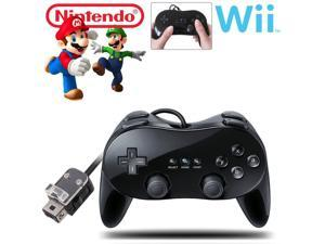 New Pro Classic Game Controller Pad Console Joypad For  Wii Remote Black