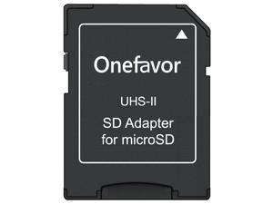 20pcs / lot onefavor TF MicroSD SDXC to SD card adapter UHS-II Stadard 4.0