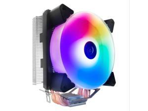 COOL STORM 4 Heat Pipe Radiator Tower Copper Tube CPU Fan 12cm Top Light Fan for  AMD Multi-Platform (Yuhuan)