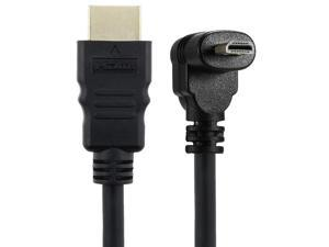 30cm Micro-HDMI Right Angle Male to HDMI Male (90 Degrees) - Supports 4k (Type B)