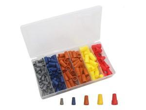 180Pcs Electrical Wire Connectors Screw Terminals, Easy Twist On Connector Kit With Spring Insterted Wire Nuts Cap Co