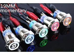 waterproof LED 5v 19mm metal push button switch momentary computer power buttons motherboard power switch