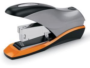 87875 Optima Desktop Staplers Half Strip 70 Sheet Capacity Silver Black Orange