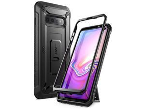 SUPCASE Unicorn Beetle Pro Series Designed for Samsung Galaxy S10 Case (2019 Release) Full-Body Dual Layer Rugged with Holster & Kickstand Without Built-in Screen Protector (Black)
