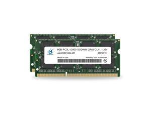 Adamanta 16GB (2x8GB) Apple Memory Upgrade Compatible for iMac, MacBook Pro, Mac Mini DDR3/DDR3L 1600Mhz PC3L-12800 SODIMM 2Rx8 CL11 1.35v RAM
