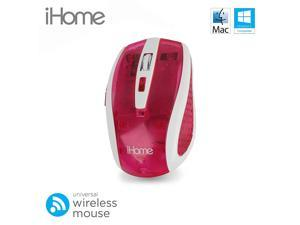 iHome by Lifeworks Technology IH-M2100P Translucent Wireless Optical Mouse (Pink)