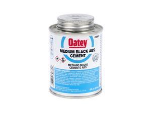 Oatey 30889 Medium Bodied Solvent Cement, 8 Oz, Can, Liquid, Black