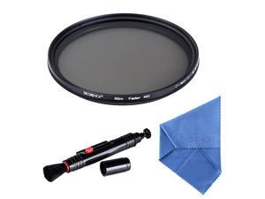 Beschoi 52mm Variable ND Filters Neutral Density Filter (ND2 to ND400) Ultra Slim Optical Glass for Digital DSLR Camera Lenses, with Cleaning Cloth + Cleaning Pen