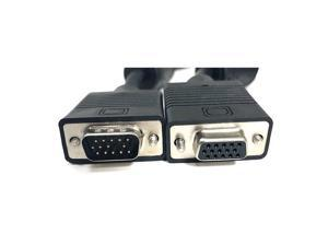 Micro Connectors, Inc. 25 feet X/S/VGA Coaxial HD15 Male To Female Extension Cable Double Shield with Ferrites (M05-110GDS )