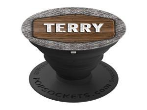 Terry Gift Vintage Distressed Rustic Skid Plate Terry PopSockets Grip and Stand for Phones and Tablets